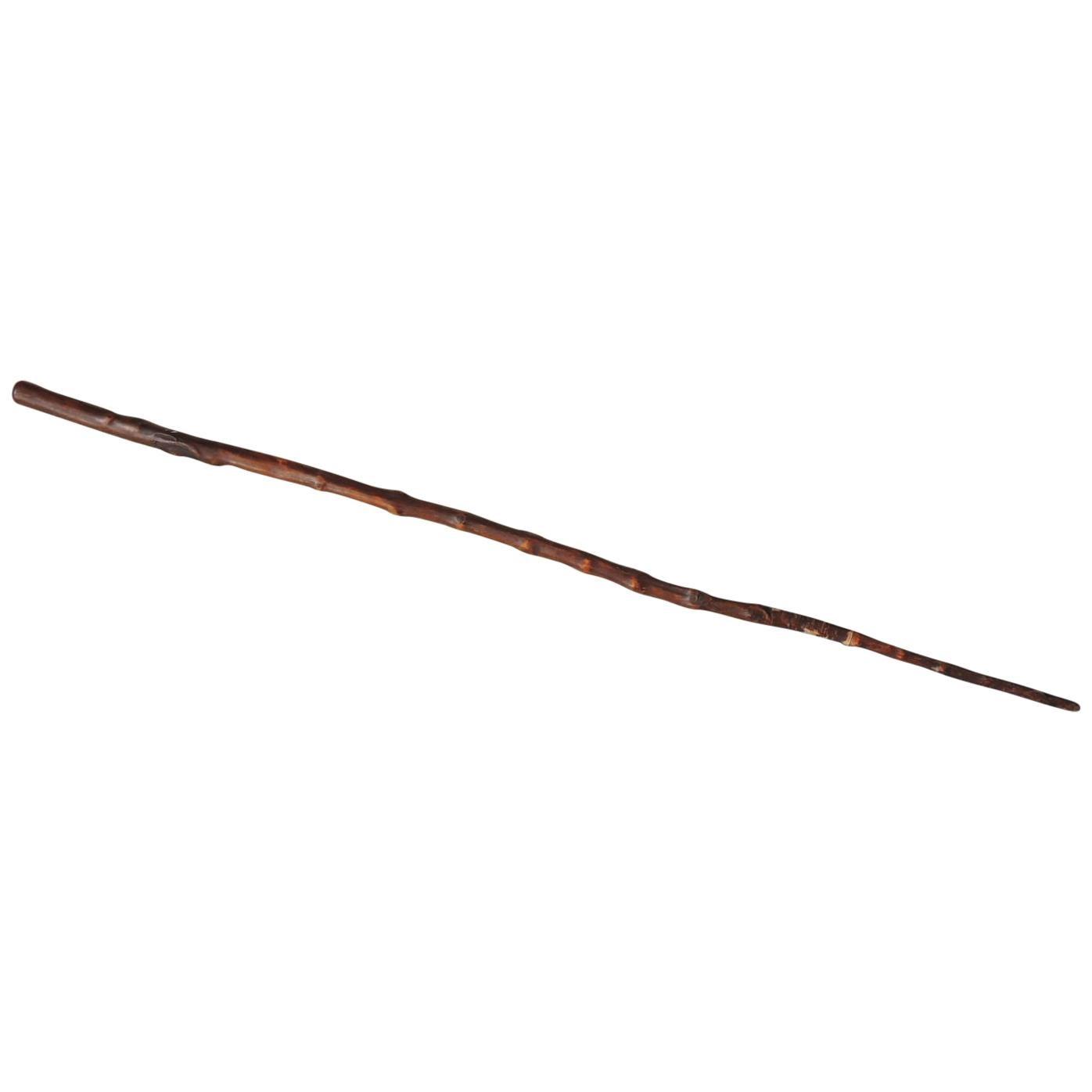 Antique Willow Dark Color Walking Stick/Cane