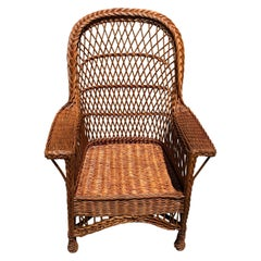 Antique Willow Wicker Chair