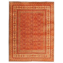 Antique Wilton English Carpet. Size: 8 ft 8 in x 11 ft 7 in (2.64 m x 3.53 m)