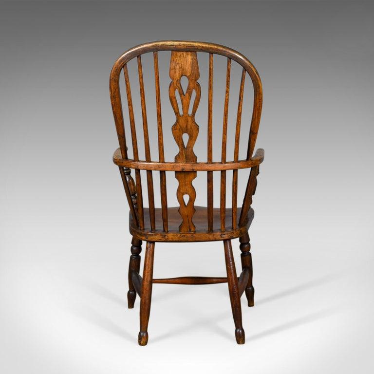 19th Century Antique Windsor Armchair English, Victorian, Stick Back, Elbow  Chair, circa - Antique Windsor Armchair English, Victorian, Stick Back, Elbow Chair