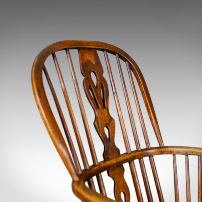 Antique Windsor Armchair English, Victorian, Stick Back, Elbow Chair, circa 1860 For Sale 1