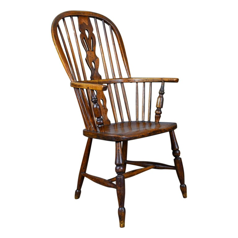 Antique Windsor Armchair English, Victorian, Stick Back, Elbow Chair, circa 1860 For Sale