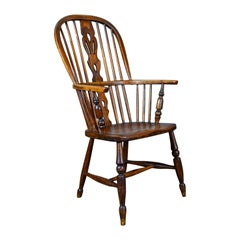Antique Windsor Armchair English, Victorian, Stick Back, Elbow Chair, circa 1860