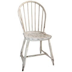 Antique Windsor Chair in Original White Painted Surface
