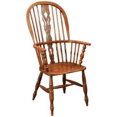 Antique Windsor Stick Back Chair, Victorian, circa 1870