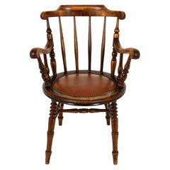 Antique Windsor Style Arm Chair, Open Arm Chair, Scotland 1830, B2461