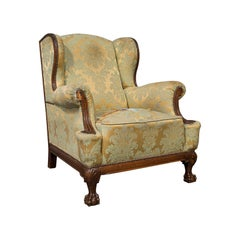 Antique Wing-Back Armchair, English, Fireside, Lounge, Seat, Edwardian, 1910