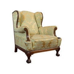 Antique Wing-Back Armchair, English, Lounge, Fireside, Seat Edwardian circa 1910
