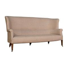 Antique Wing Sofa, English, Settee, Quality, High Back, Mahogany, Edwardian