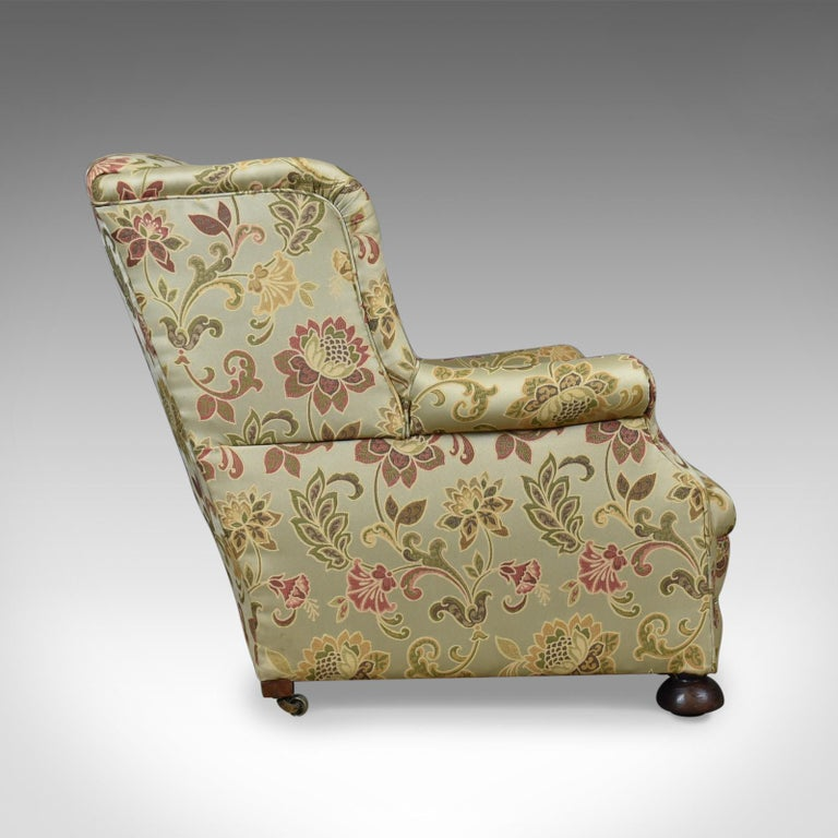 Late Victorian Antique Wingback Armchair, English, Victorian, Deep, Club  Chair, circa - Antique Wingback Armchair, English, Victorian, Deep, Club Chair