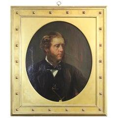 Antique Winsor Newton English Oil Portrait Painting Young Man London