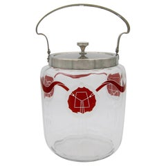 Antique WMF Secessionist Biscuit Barrel Cookie Jar