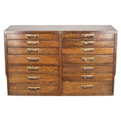 Antique Wood and Brass Watchmaker's Chest, circa 1900-1910