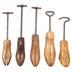 Antique Wood and Cast Iron Shoe Stretchers c.1920