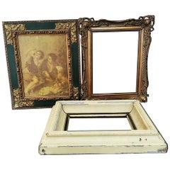 Antique Wood Frames Lot of 3
