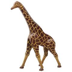 Antique Wood Giraffe Sculpture, circa 1930