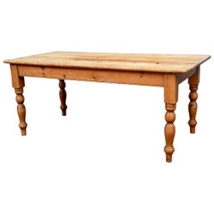 Antique Wood Pine Farm Table