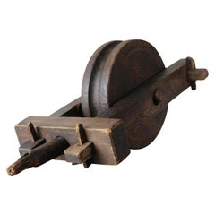 Antique Wood Pulley