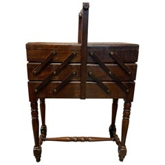Antique Wood Sewing Cart