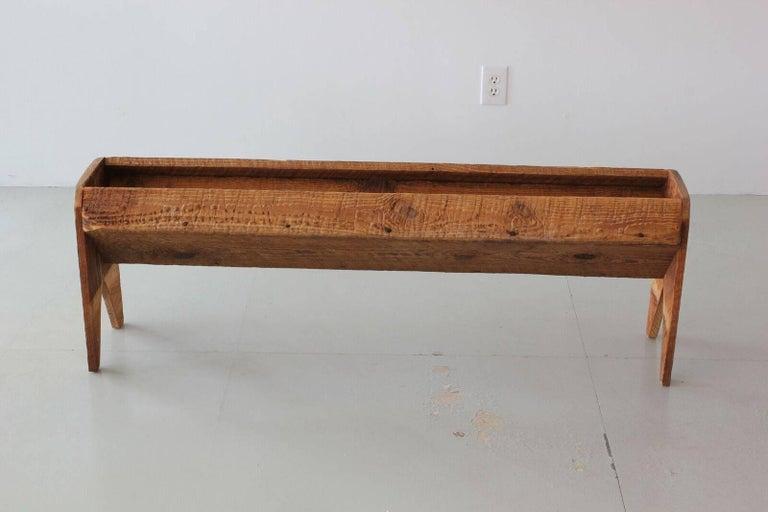 Oak Antique Wood Trough For Sale