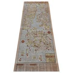 Antique Woodblock Print Map of Japan 'circa 1860'