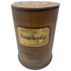 Antique Wooden Apothecary Pharmacy Storage Jar