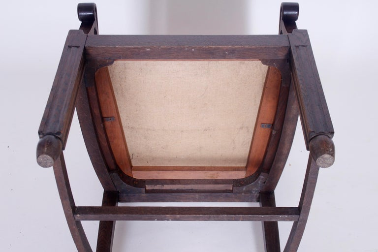 Antique Wooden Armchair, 1920s For Sale at 1stDibs