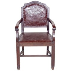 Antique Wooden Armchair, 1920s