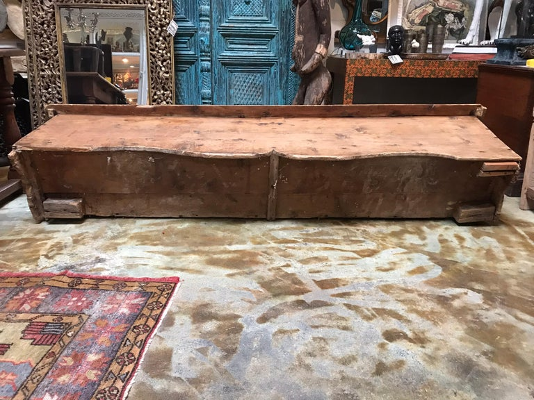 Antique Wooden Bench For Sale 5