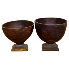Antique Wooden Bowls, 20th Century