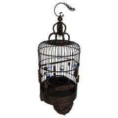 Antique Wooden Chinese Bird Cage