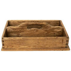Antique Wooden Cutlery Box in Pine, Late 1800s, Sweden