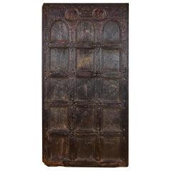 Antique Wooden Door from Orissa, 20th Century