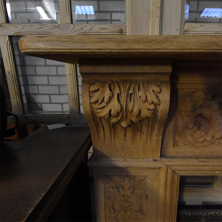 Antique Wooden Firplace Mantel, 19th Century In Fair Condition For Sale In Udenhout, NL