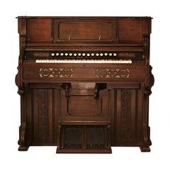Antique Wooden Harmonium. Made By Bell & Co Pump Organ