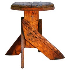 Antique Wooden Milking or Workmans Stool