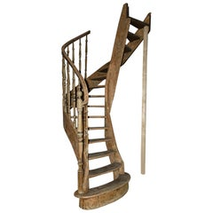 Antique Wooden Staircase, 19th Century