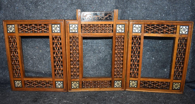 Early 20th Century Antique Wooden Syrian Picture Frames or Mirror Frames For Sale