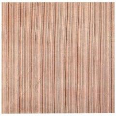 Antique Wool and Silk Persian Jajim Kilim. Size: 8 ft x 8 ft (2.44 m x 2.44 m)
