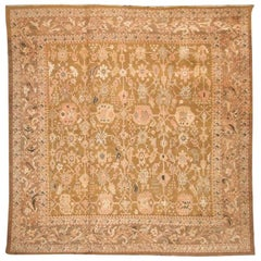 Antique Wool Rug, Oushak-Ziegler, Palms, Trees and Flowers Design