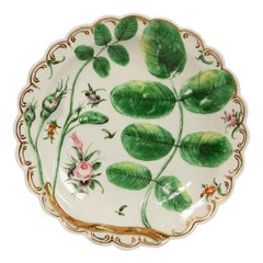 Antique Worcester Porcelain Blind Earl Pattern Dish Made, circa 1785