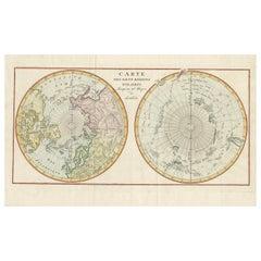 Antique World Map, circa 1780