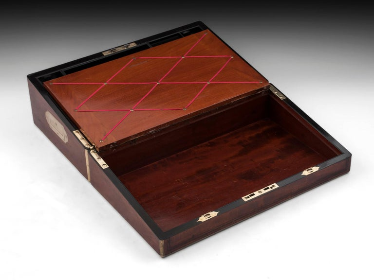 Antique Writing Box with secret compartment by Hausburg, 19th Century For Sale 4