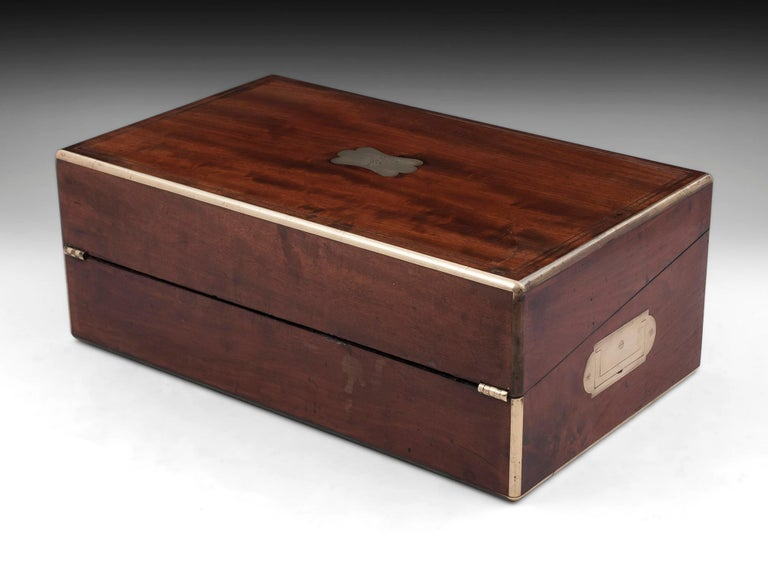 Antique Writing Box with secret compartment by Hausburg, 19th Century For Sale 3
