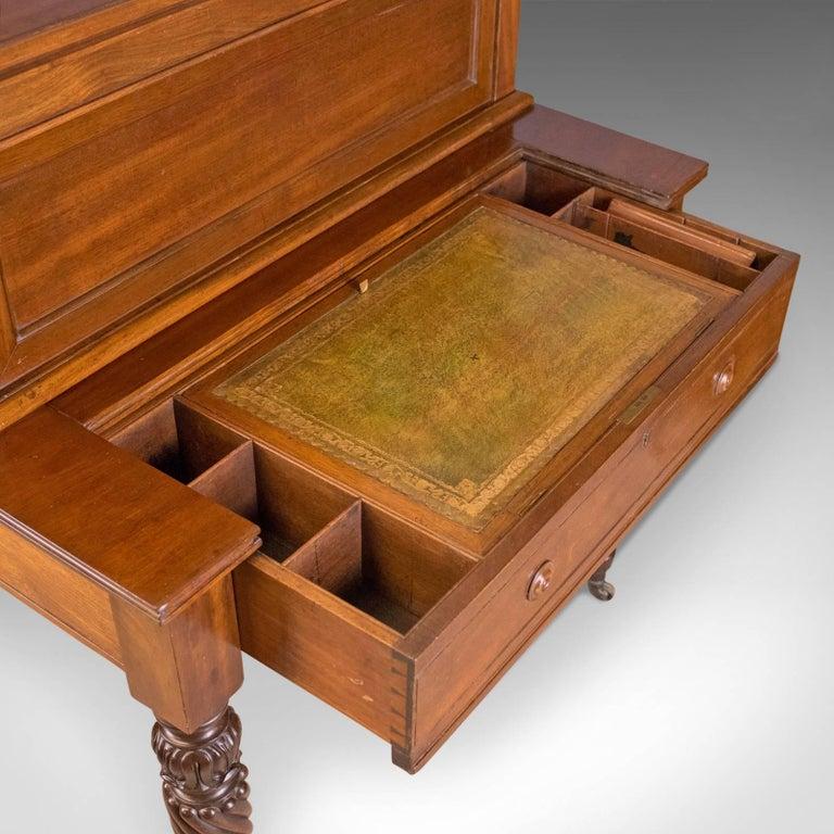 English Antique, Writing Desk, William iv, Bonheur Du Jour, A Solomon, circa 1835 For Sale