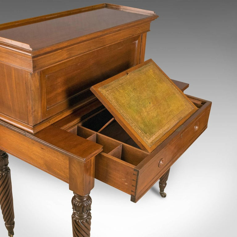 Antique, Writing Desk, William iv, Bonheur Du Jour, A Solomon, circa 1835 In Good Condition For Sale In Hele, Devon, GB