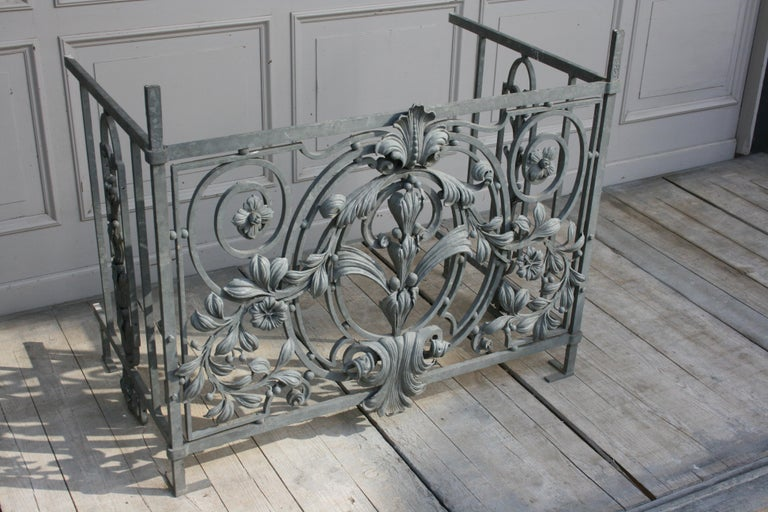 Antique Wrought Iron Balcony Railing French At 1stdibs