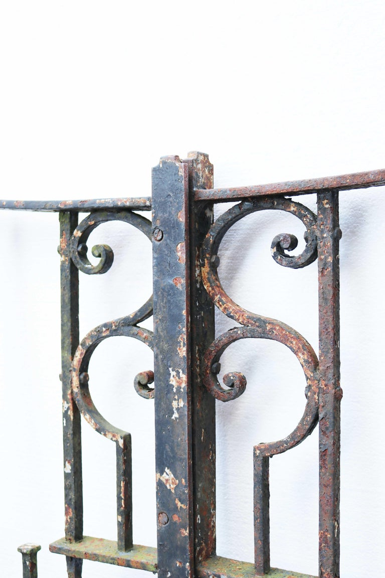 English Antique Wrought Iron Driveway Gates For Sale