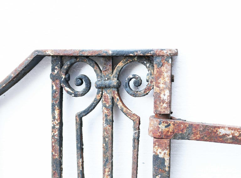 19th Century Antique Wrought Iron Driveway Gates For Sale