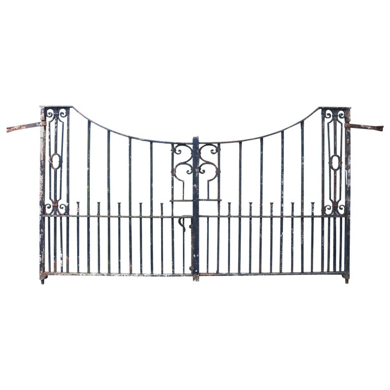 Antique Wrought Iron Driveway Gates For Sale